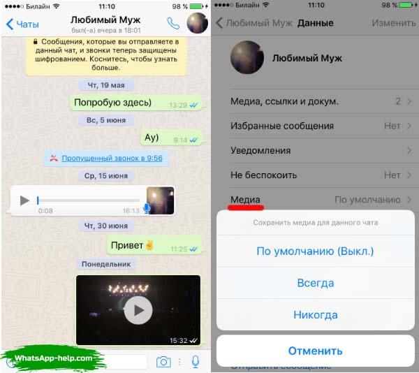 где хранятся фото из whatsapp