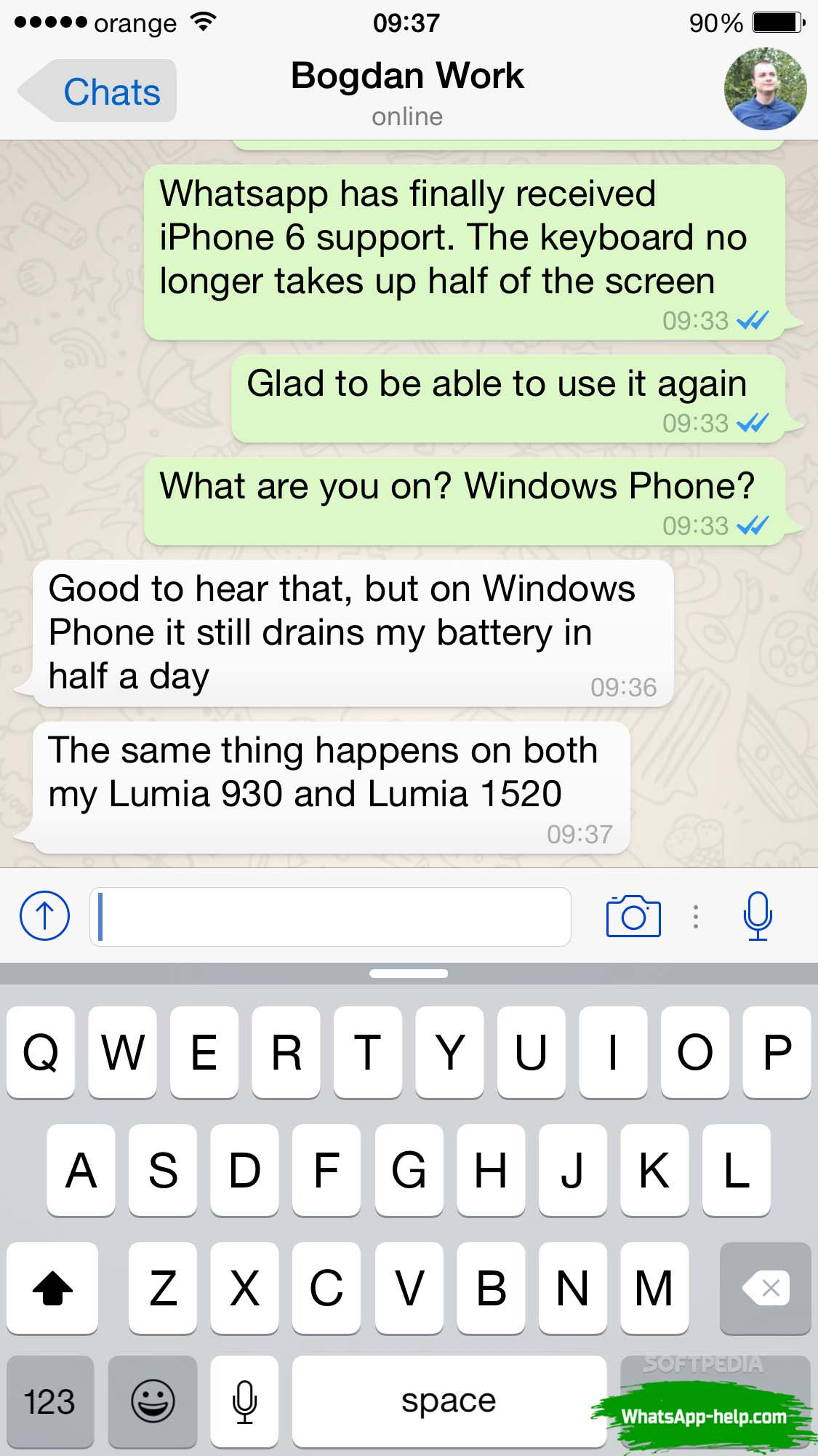 как отправить гифку в whatsapp на айфоне
