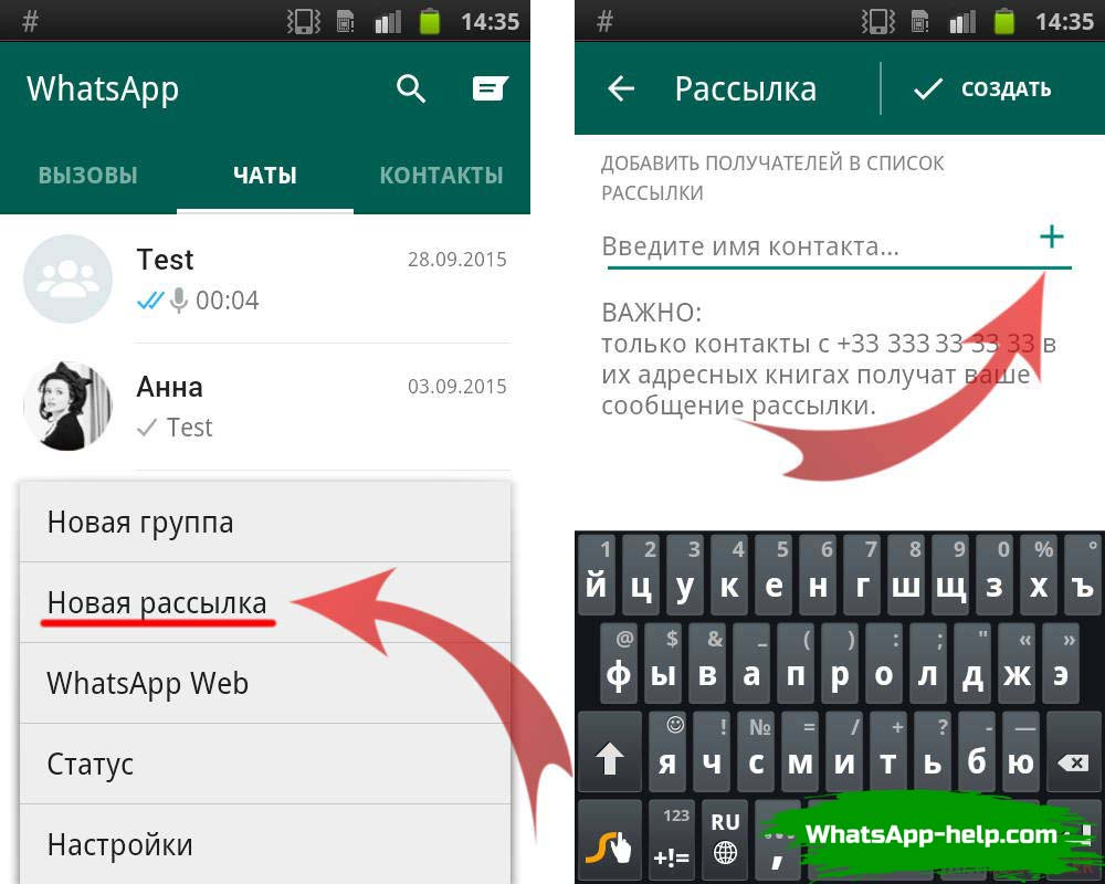 реклама через whatsapp