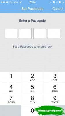можно ли поставить пароль на вотс ап
