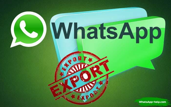 что значит экспорт чата в whatsapp