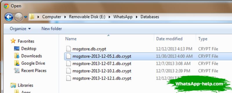 whatsapp databases что это за папка
