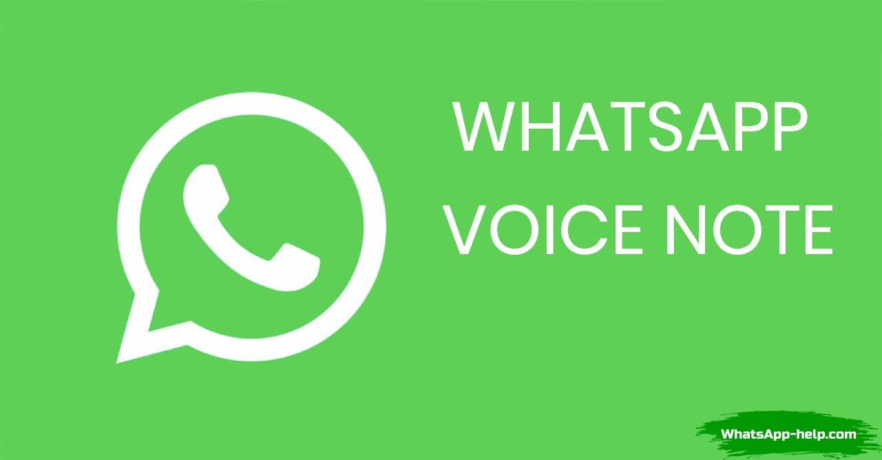 whatsapp voice notes что это
